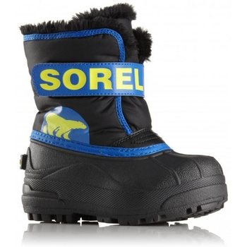 Sorel Toddler Snow Commander, Black, Super Blue, 21 (US 4)