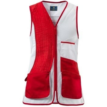 Beretta Trap Vest No Olimpic - DX, Red & White, S