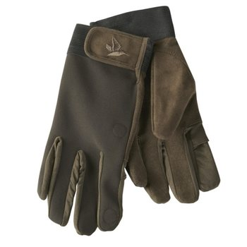 Seeland Winster Softshell Gloves, Black Coffee, M