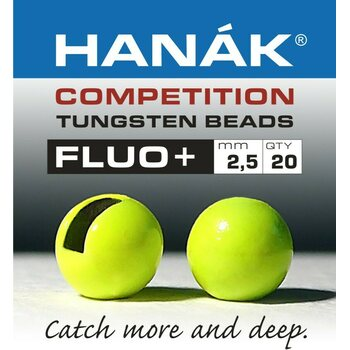 Hanak Competition Tungsten Beads Fluo+, 20 kpl