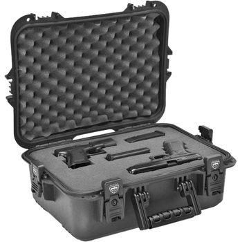 Plano Tactical AW Large Accessory Case w/ Foam - Black Latches/Handle, UPC, Blank Insert