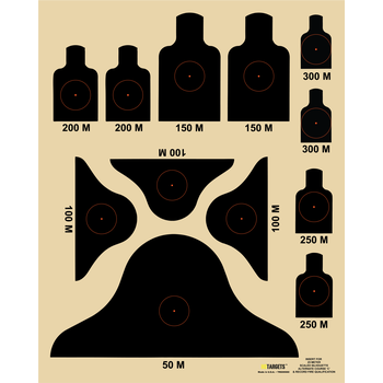 "HD Targets 16"" x 20""  Alternate 'C' Course Insert 10 kpl"