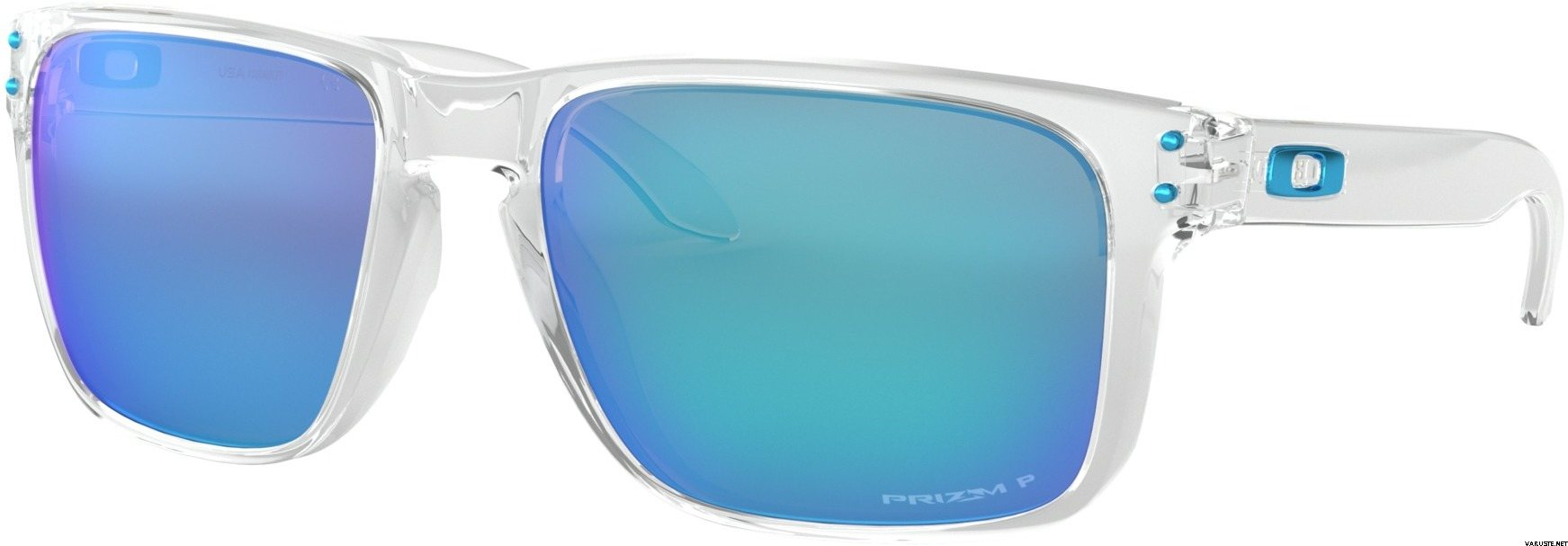 143082ddce Oakley Holbrook XL Polished Clear w  Prizm Sapphire Polarized ...